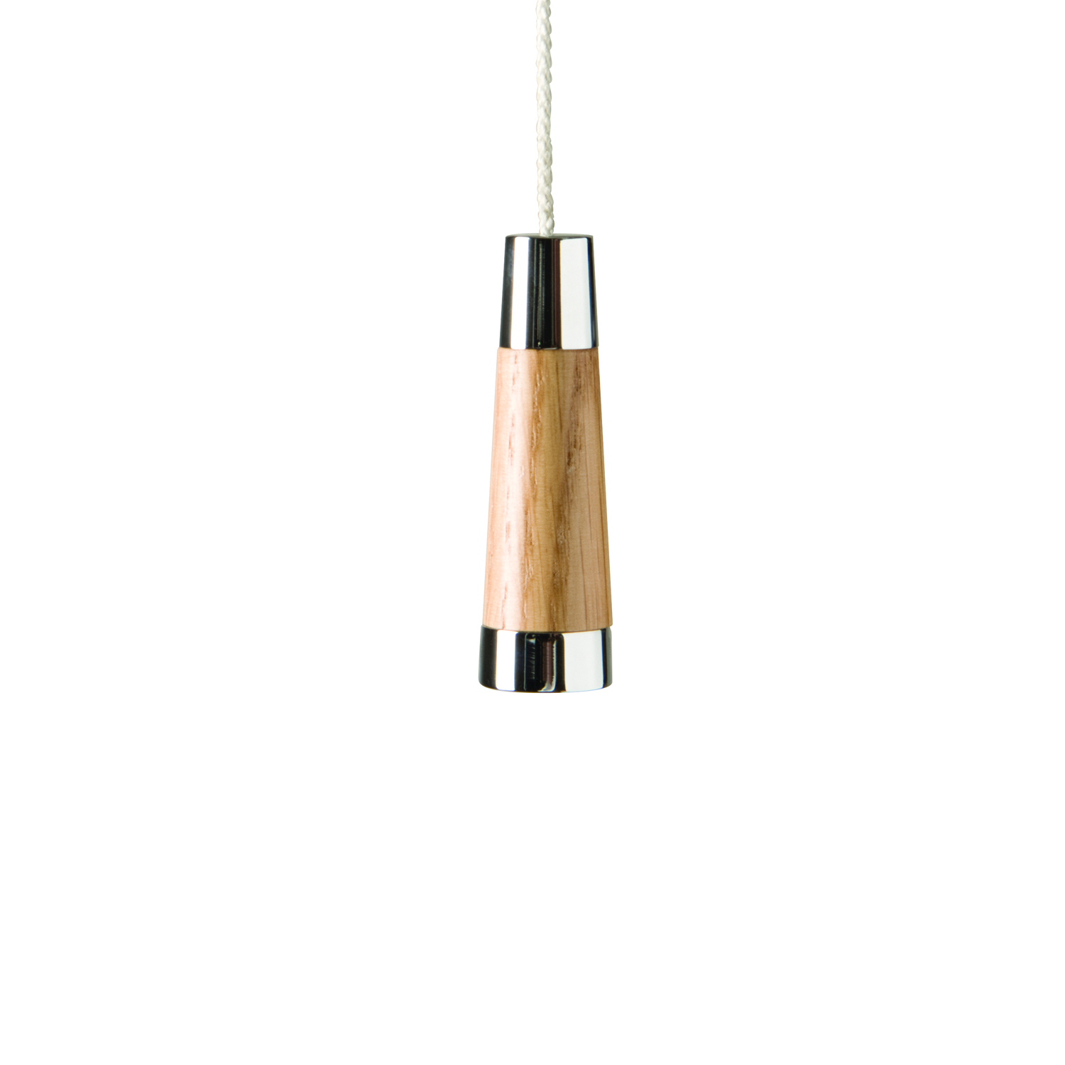 Classic Light Wood Conical Light Pull