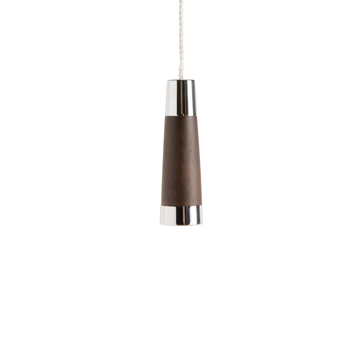 Classic Dark Wood Conical Light Pull
