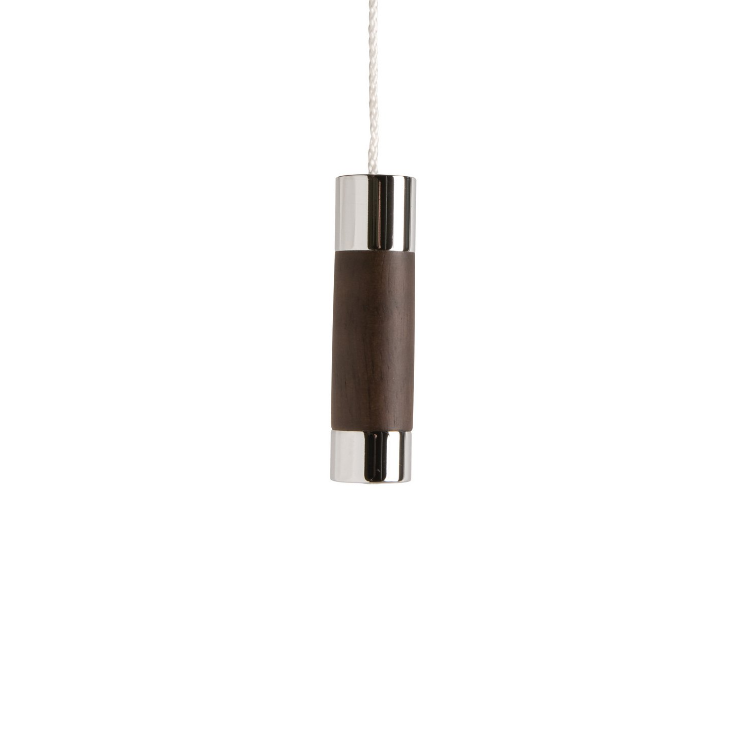 Classic Dark Wood Cylindrical Light Pull