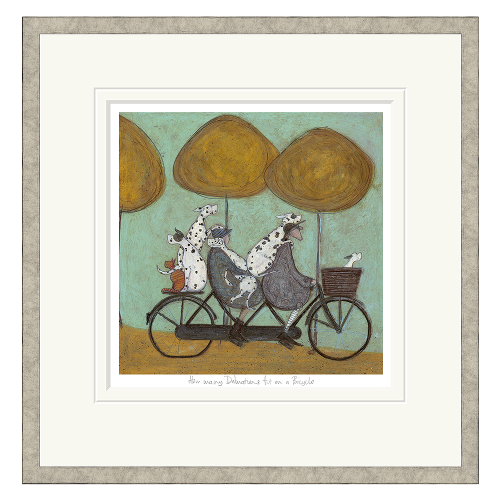 Sam Toft - How Many Dalmatians Fit On A Bike - Limited Edition Print