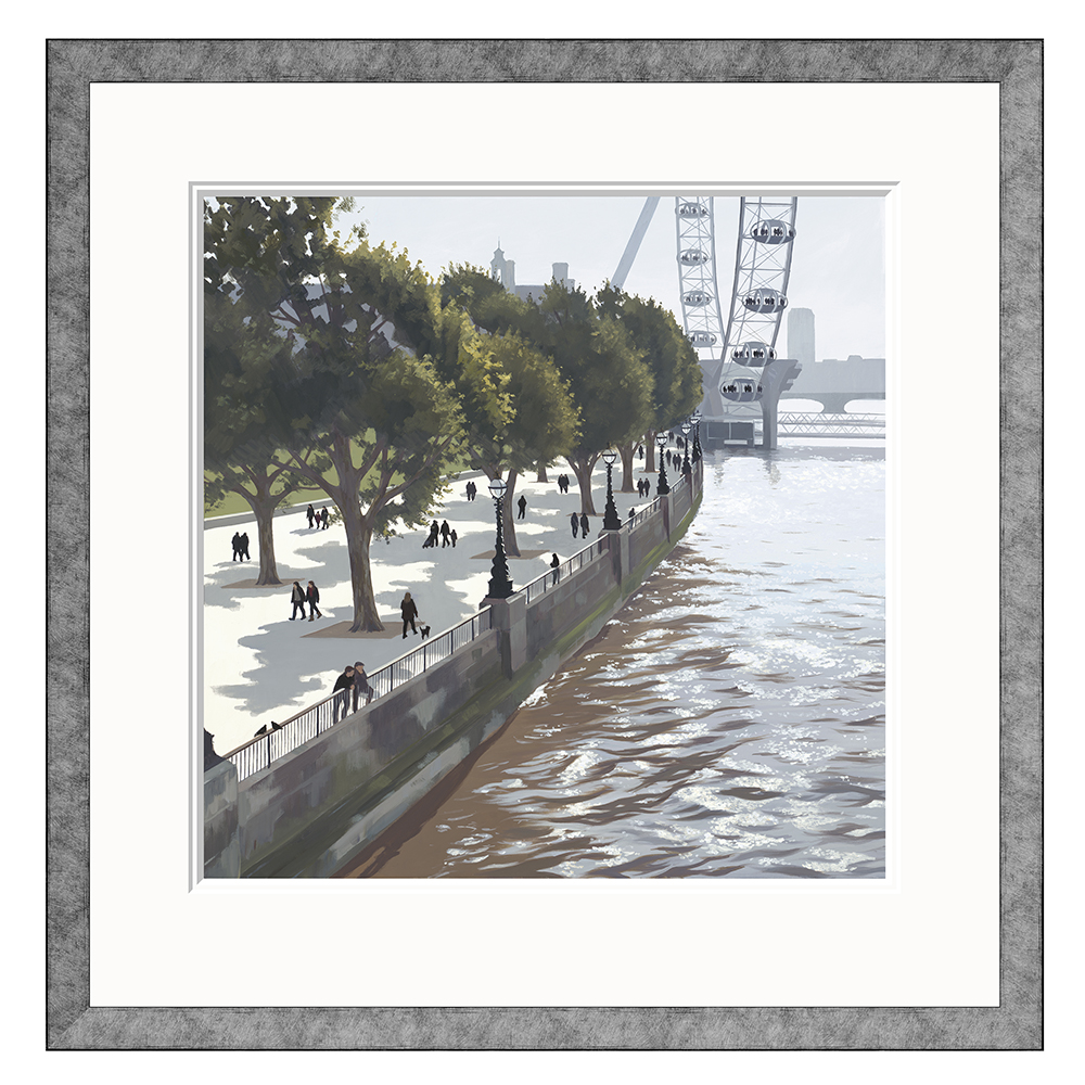 Jo Qigley - South Bank Spring - Limited Edition Print
