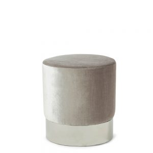 Elle Stool Grey & Silver