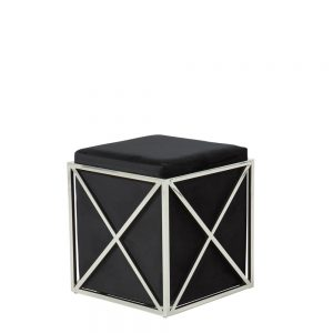 Georgia Stool Black & Silver