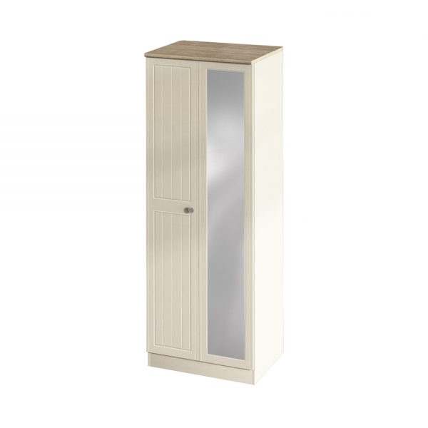Verona Tall 2ft 6in Mirrored Wardrobe