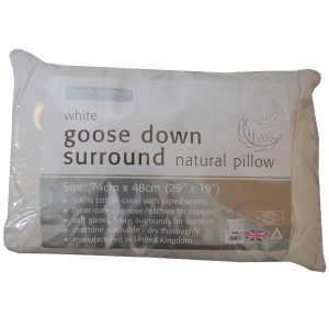 White Goose Down Surround Pillow