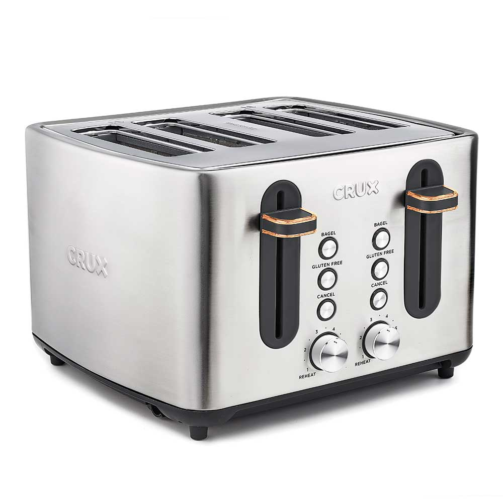 Crux 4 Slice Toaster Stainless Steel