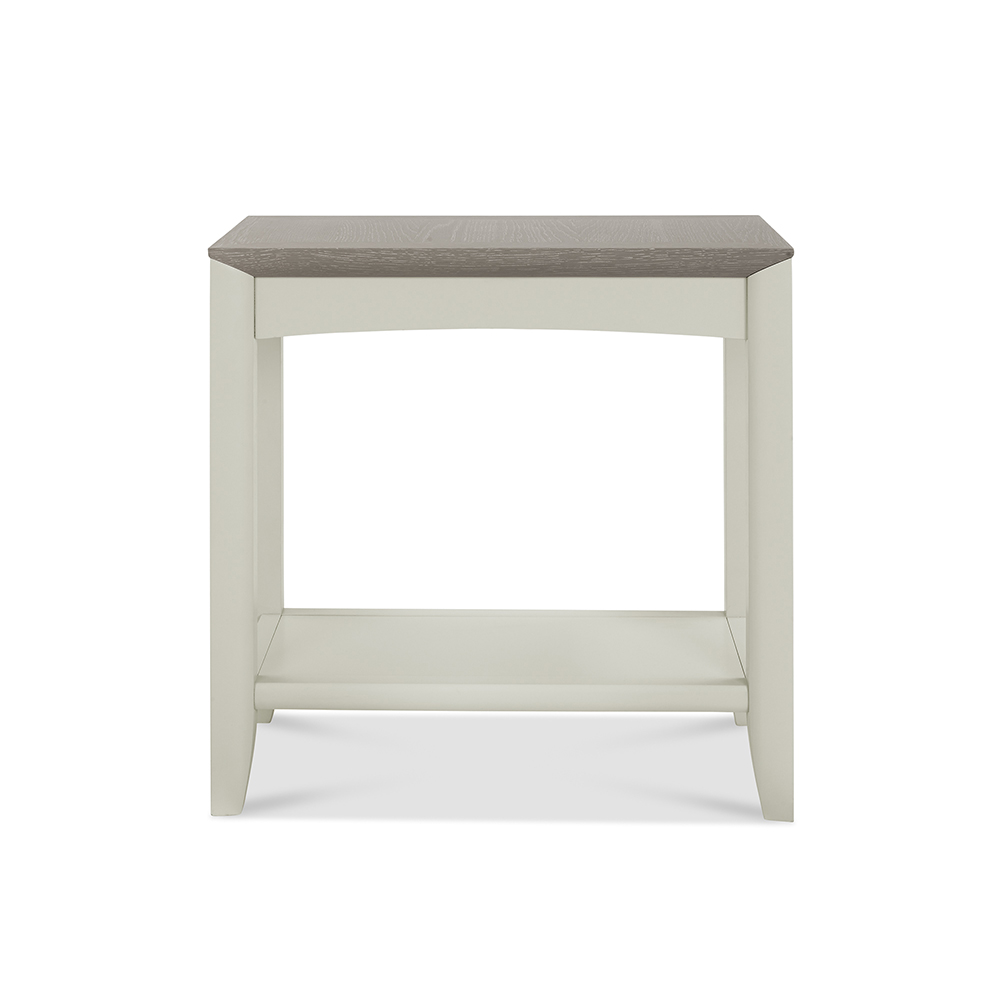 Burnham Side Table Grey Washed & Soft Grey