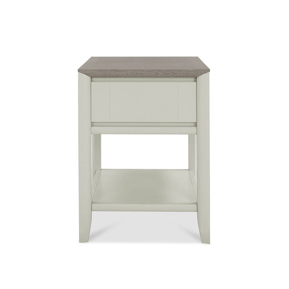 Burnham Lamp Table Grey Washed & Soft Grey
