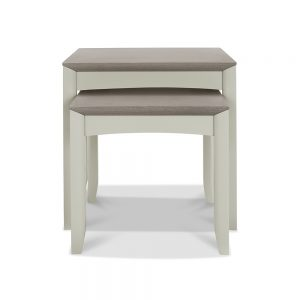 Burnham Nest Of Tables Grey Washed & Soft Grey