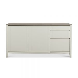 Burnham Large Sideboard Grey Washed & Soft Grey