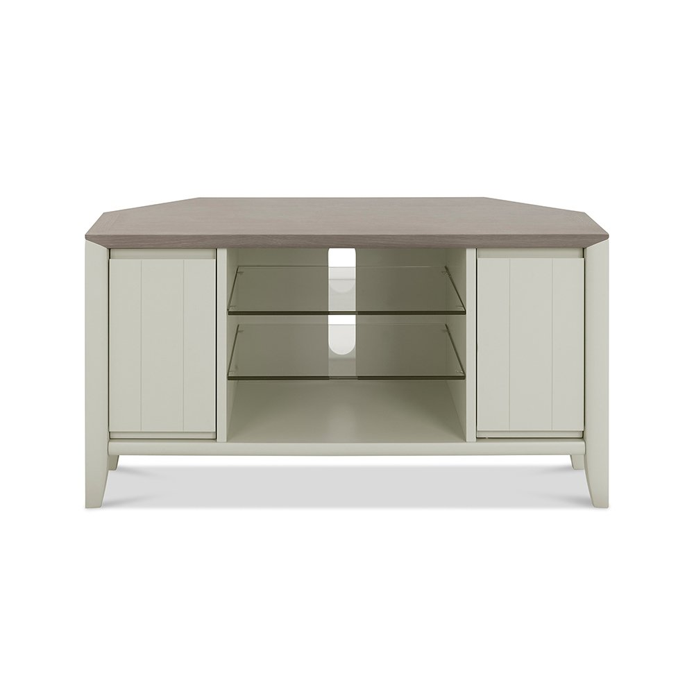 Burnham Corner Entertainment Unit Grey Washed & Soft Grey