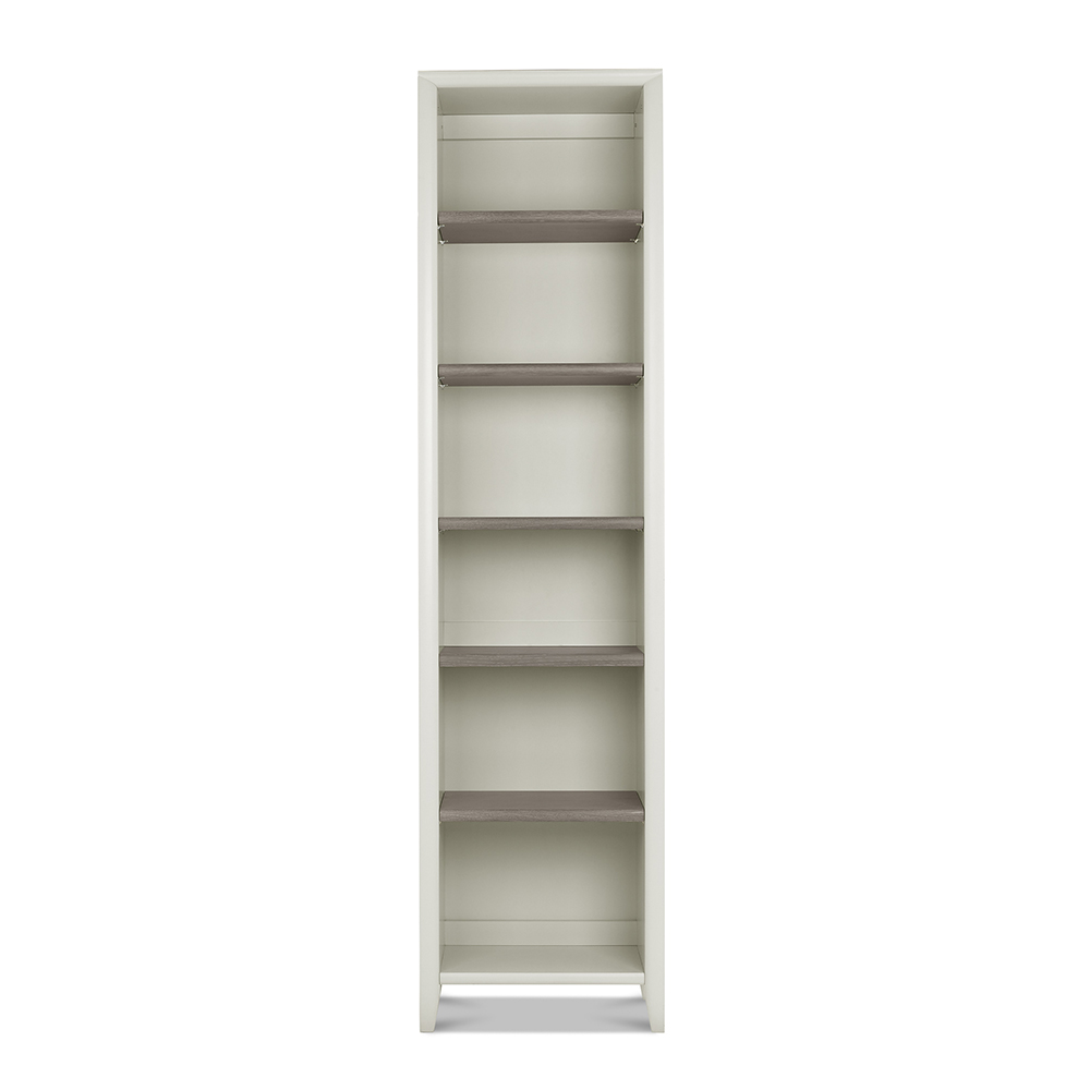 Burnham Narrow Bookcase Grey Washed & Soft Grey