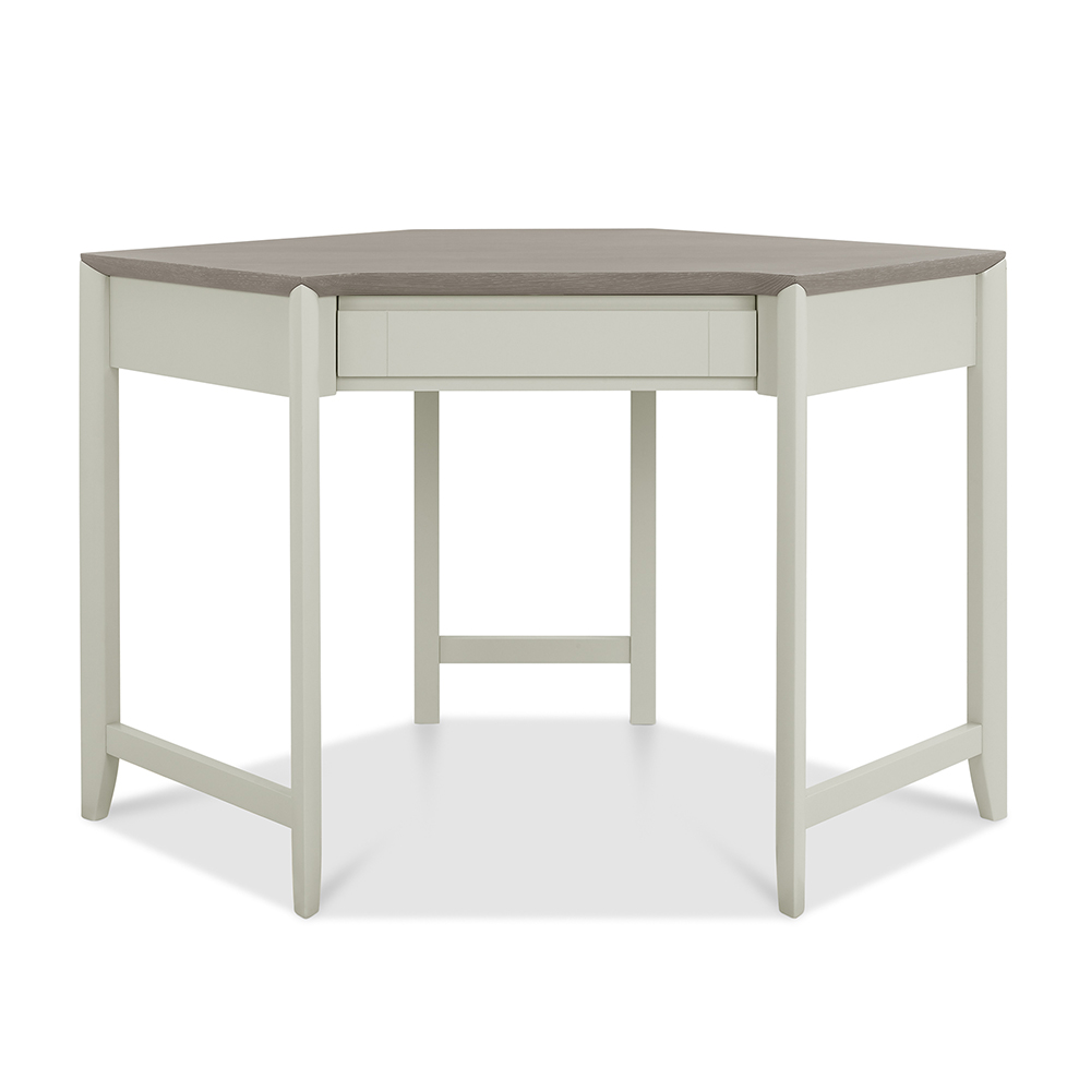 Burnham Corner Desk Grey Washed & Soft Grey