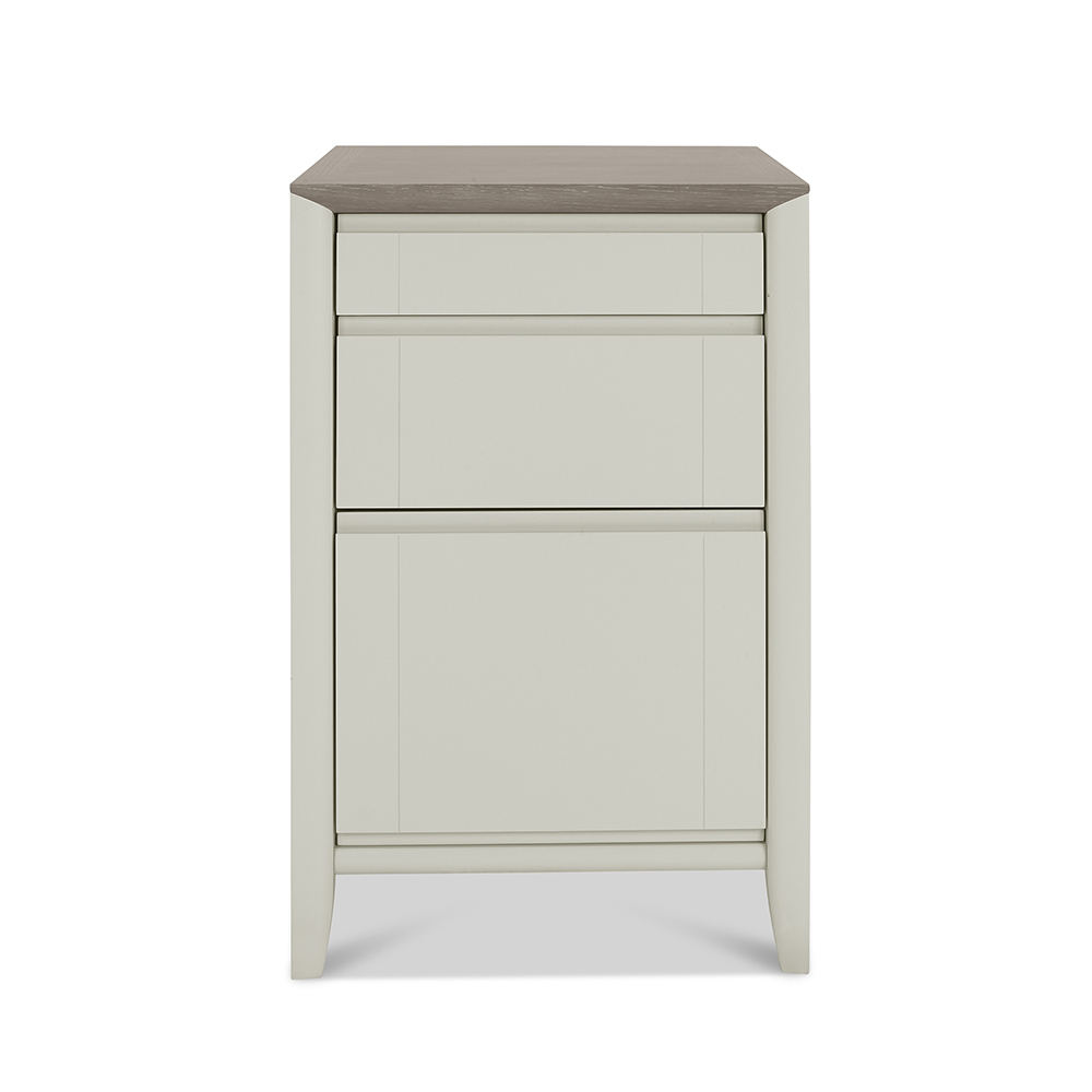 Burnham Filing Cabinet Grey Washed & Soft Grey