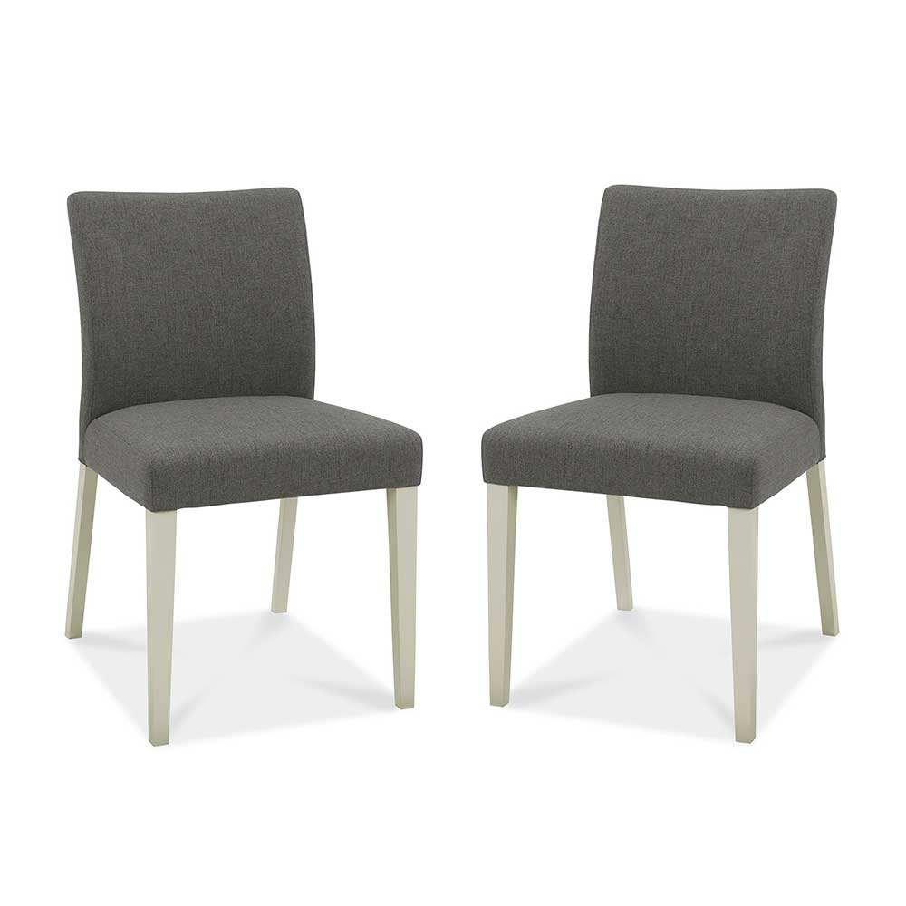 Upholstered Chair Grey Washed Oak & Soft Grey Cold Steel Fabric