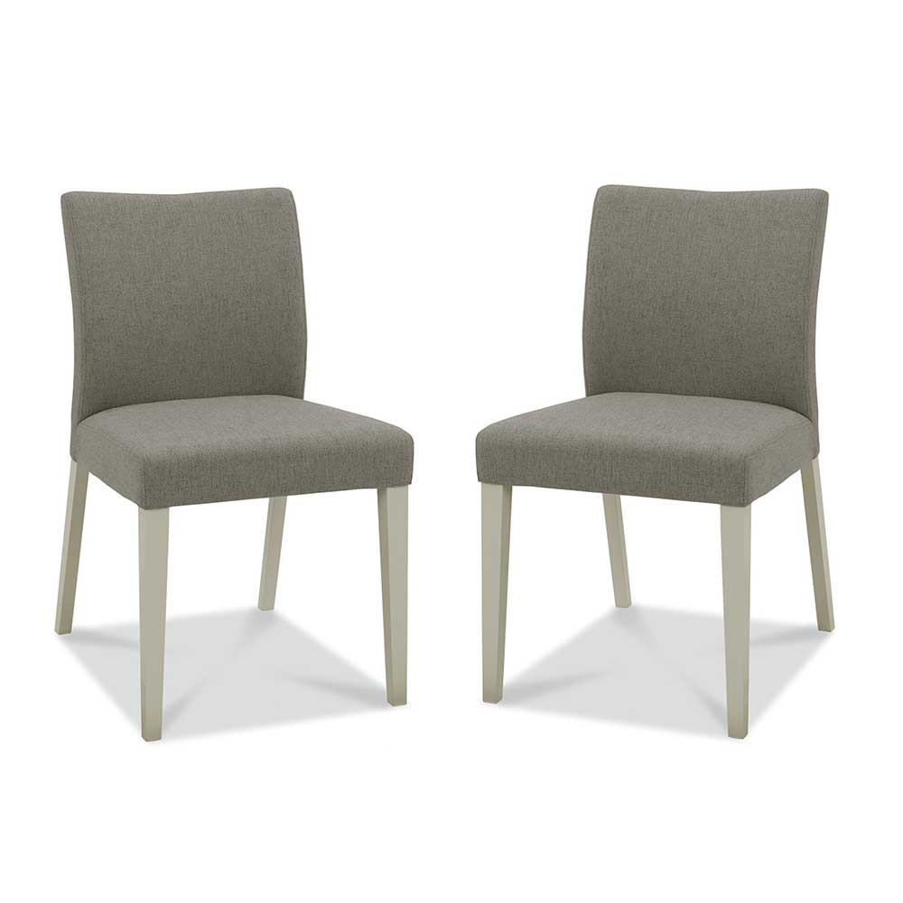 Burnham Upholstered Chair Grey Washed Oak & Soft Grey - Titanium