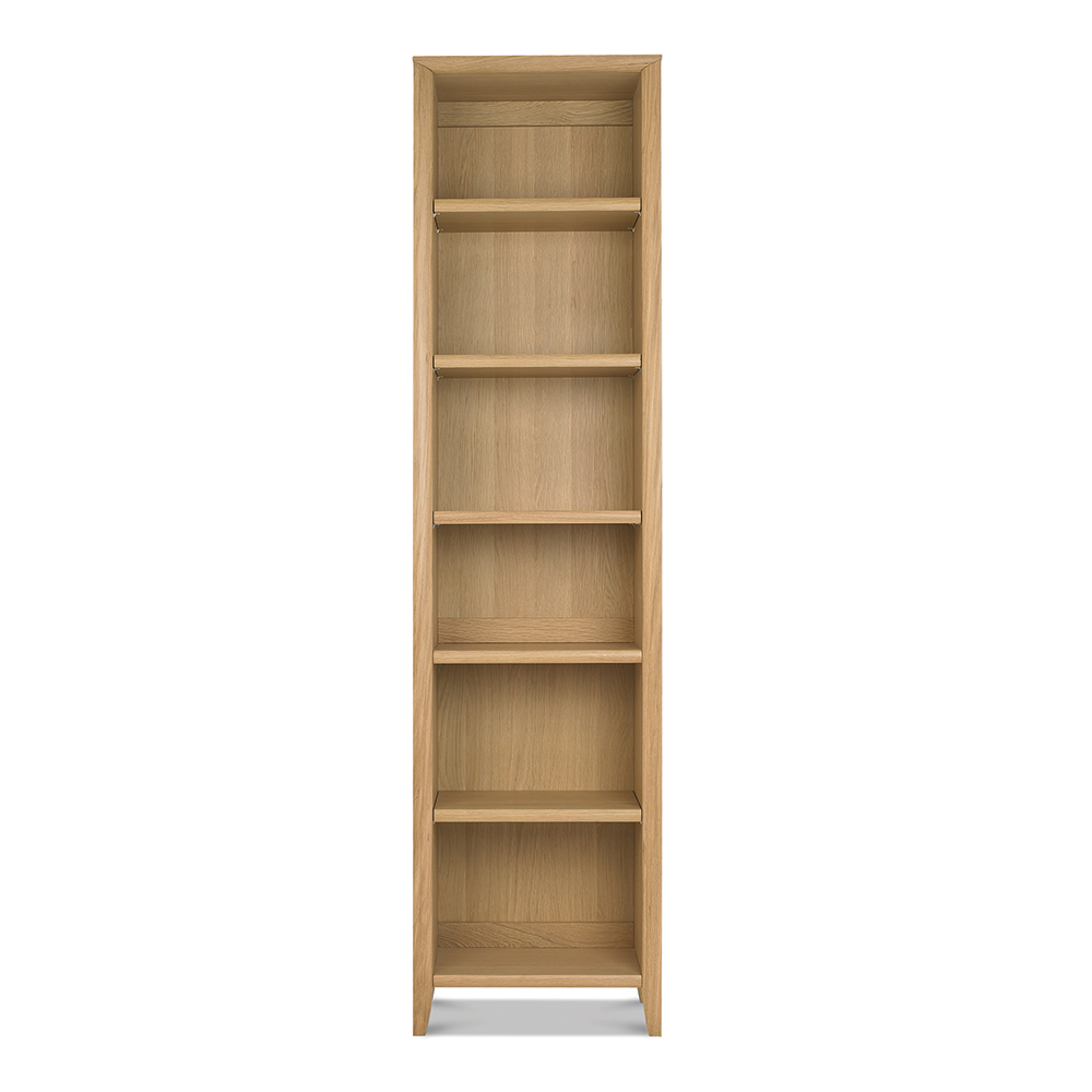 Burnham Narrow Bookcase Oak