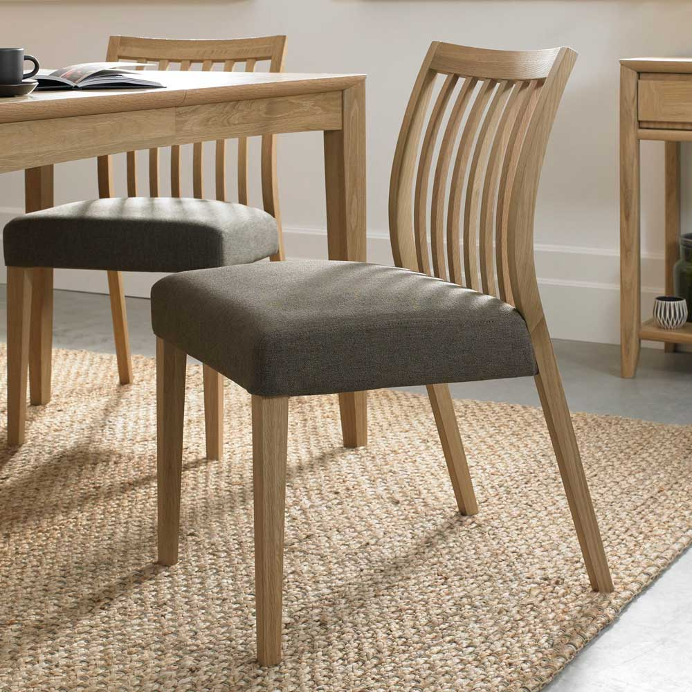 Burnham Low Slat Back Dining Chair - Black Gold