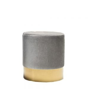Elle Stool Grey & Gold