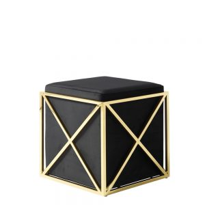 Georgia Stool Black & Gold