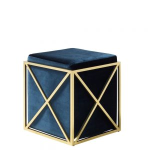 Georgia Stool Blue & Gold