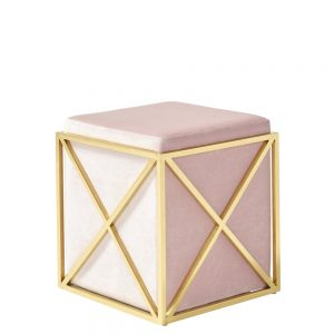 Georgia Stool Pink & Gold