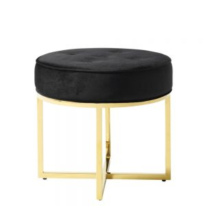 Lena Stool Black & Gold