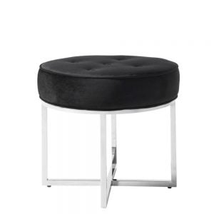 Lena Stool Black & Silver
