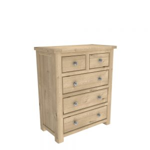 Brittany 2+3 Drawer Chest Oak