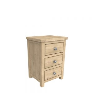 Brittany 3 Drawer Bedside Oak