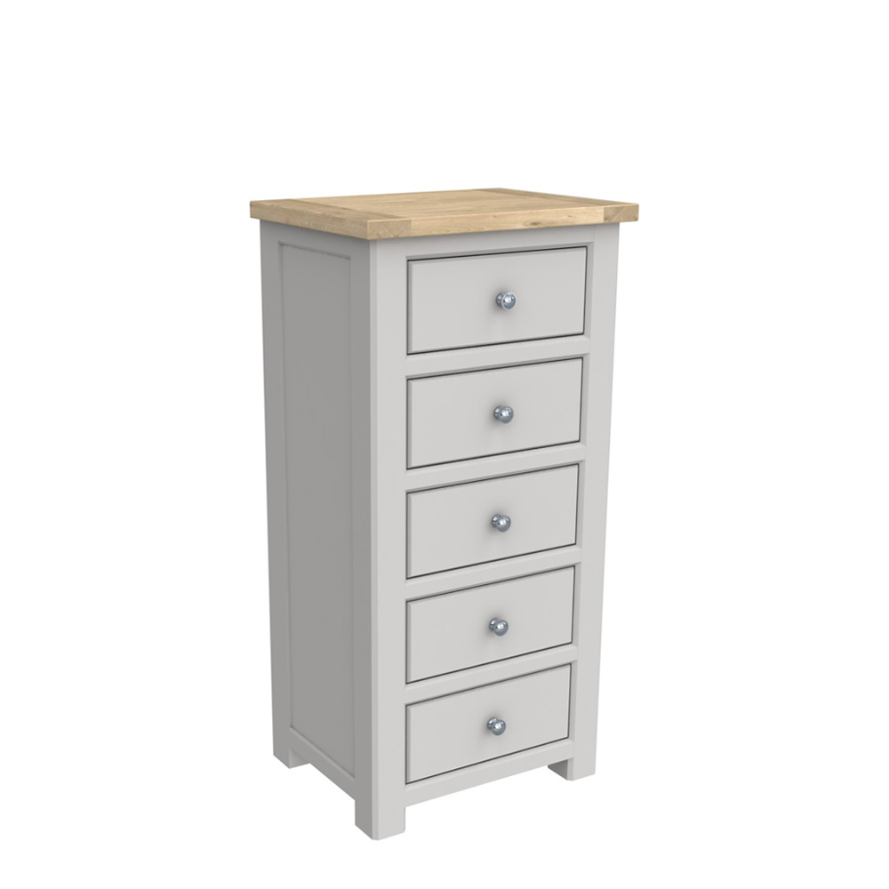 Brittany 5 Drawer Tall Chest Painted