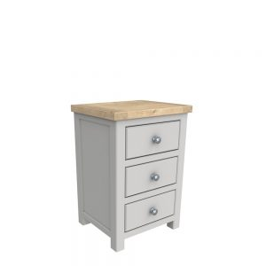 Brittany 3 Drawer Bedside Painted