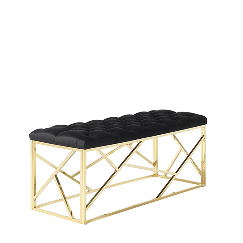 Zoey Bench Black & Gold