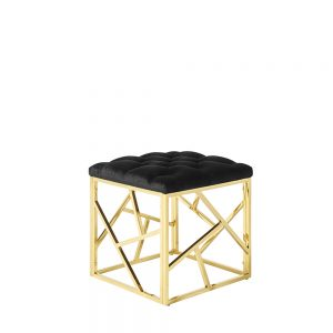 Zoey Stool Black & Gold