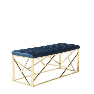 Zoey Bench Blue & Gold