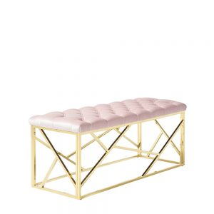 Zoey Bench Pink & Gold