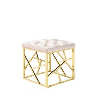 Zoey Stool Pink & Gold