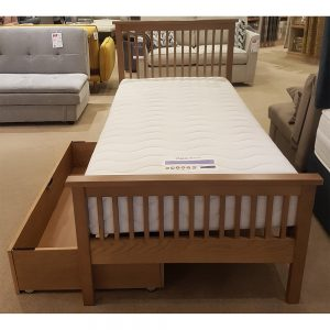 georgia oak single bedstead
