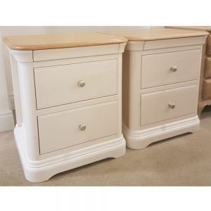 Stag Crompton Large 2 Drawer Bedside