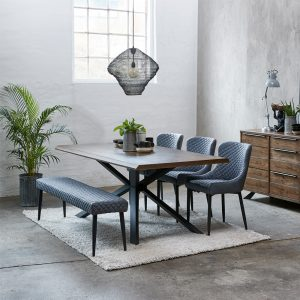 Arno Dining Table & 6 Ontario Chairs