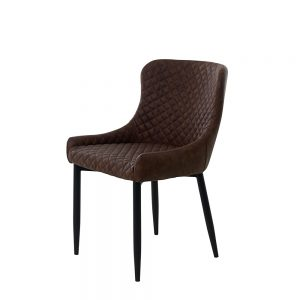 ONTARIO OTT03 DINING CHAIR BROWN PU