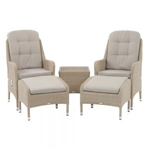Bramblecrest Holkham Recliner Set Including 2 Footstools & Coffee Table With Tree-Free Top - Nutmeg