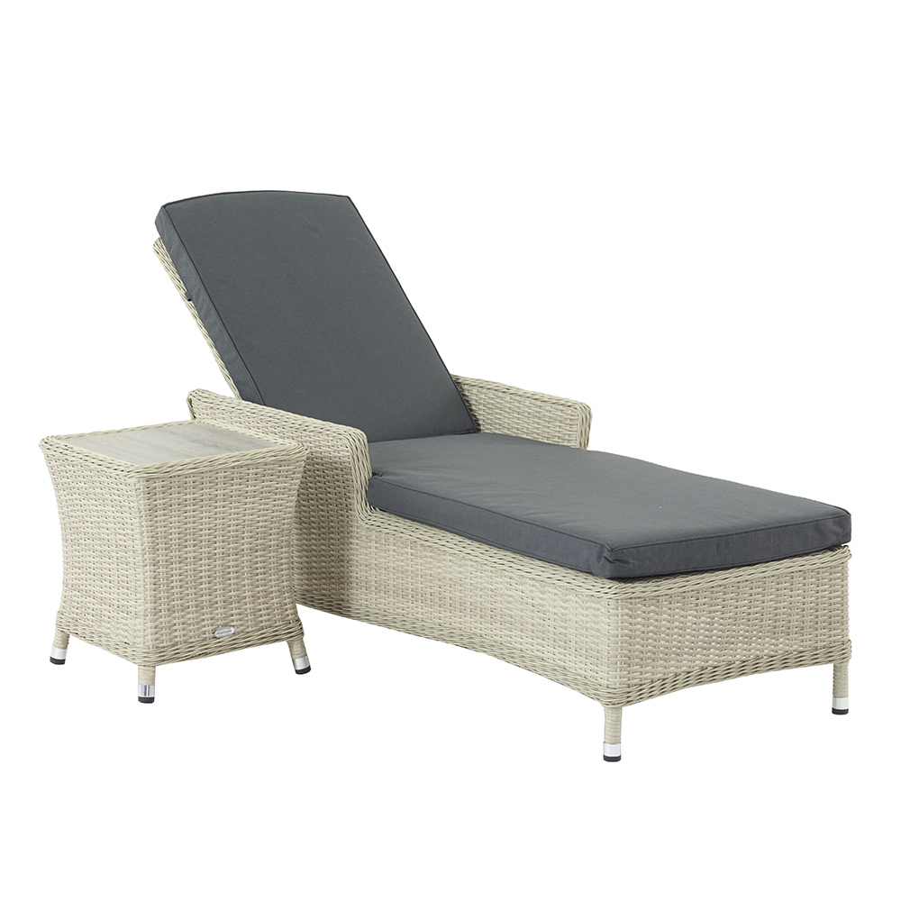 Bramblecrest Monterey Lounger & High Coffee Table With Ceramic Top