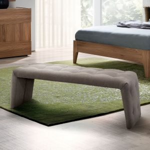 Milan Walnut Upholstered Bench
