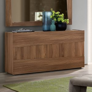 Milan Walnut 3 Drawer Chest