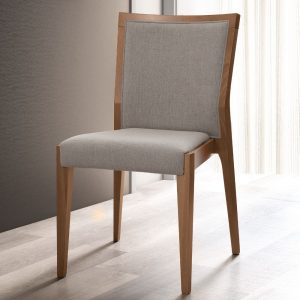 Milan Walnut Upholstered Chair