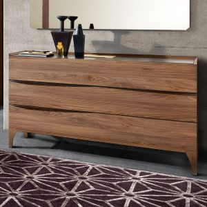 Genoa Walnut 3 Drawer Chest