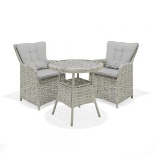 Eden Project Salerno 70cm Bistro Table & 2 Carver Dining Chairs