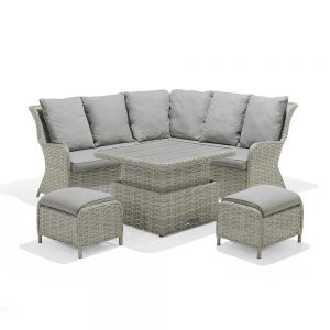 Eden Project Salerno Highback Casual Dining Corner Set With 2 Stools