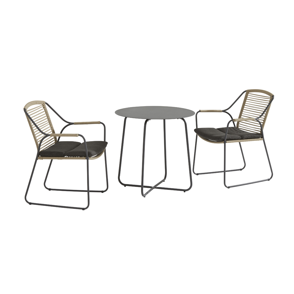 Scandic Dali Bistro Dining Table & 2 Dining Chairs With Cushions